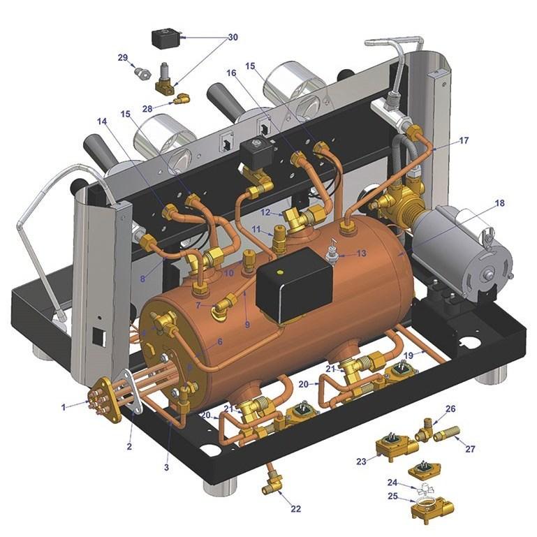شناخت سیستم مبدل دما(HX) در دستگاه اسپرسو