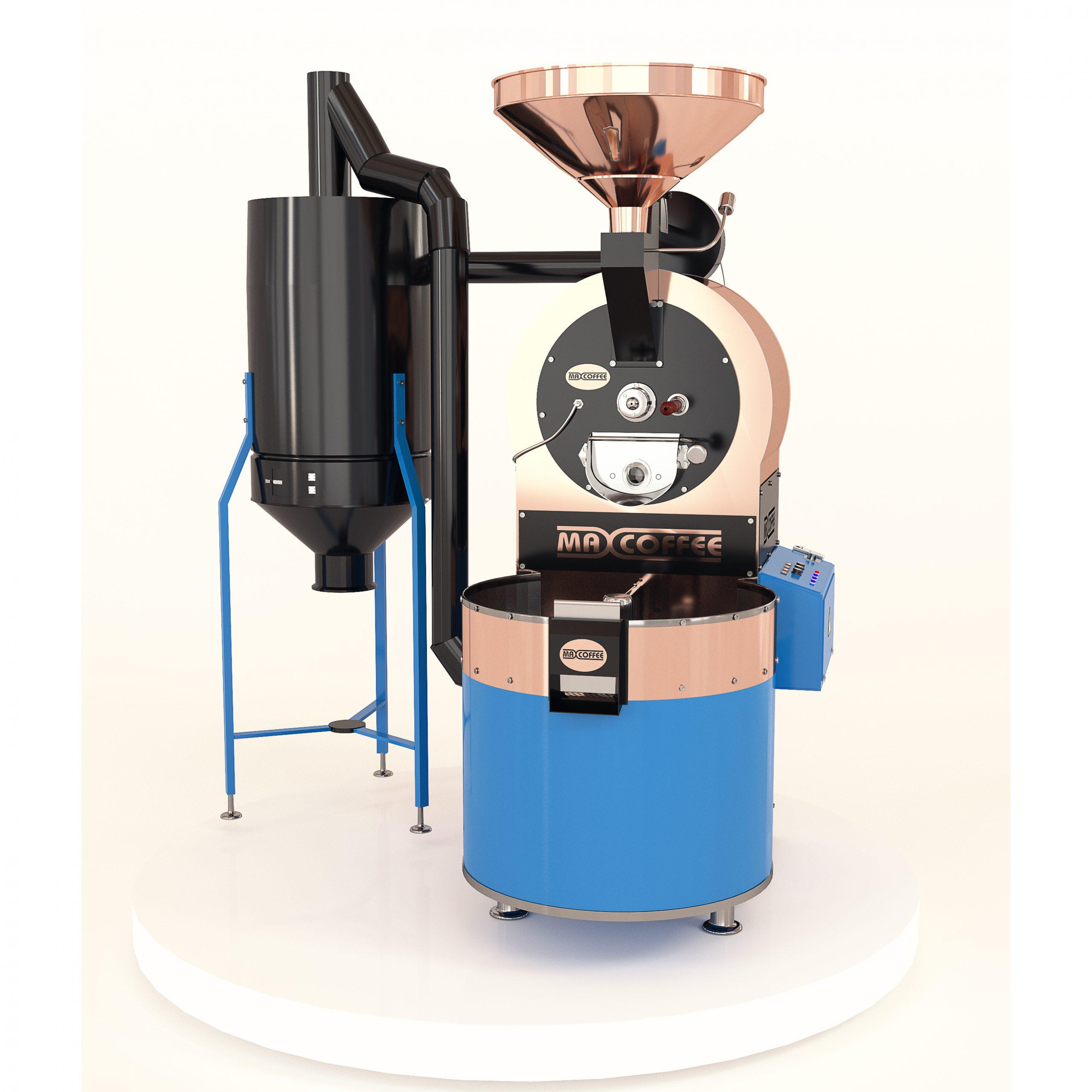 رستر قهوه ۱۵ کیلویی مکس کافی