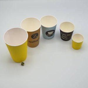 لیوان کاغذی قهوه درب دار رستاک در سایز های مختلف-7