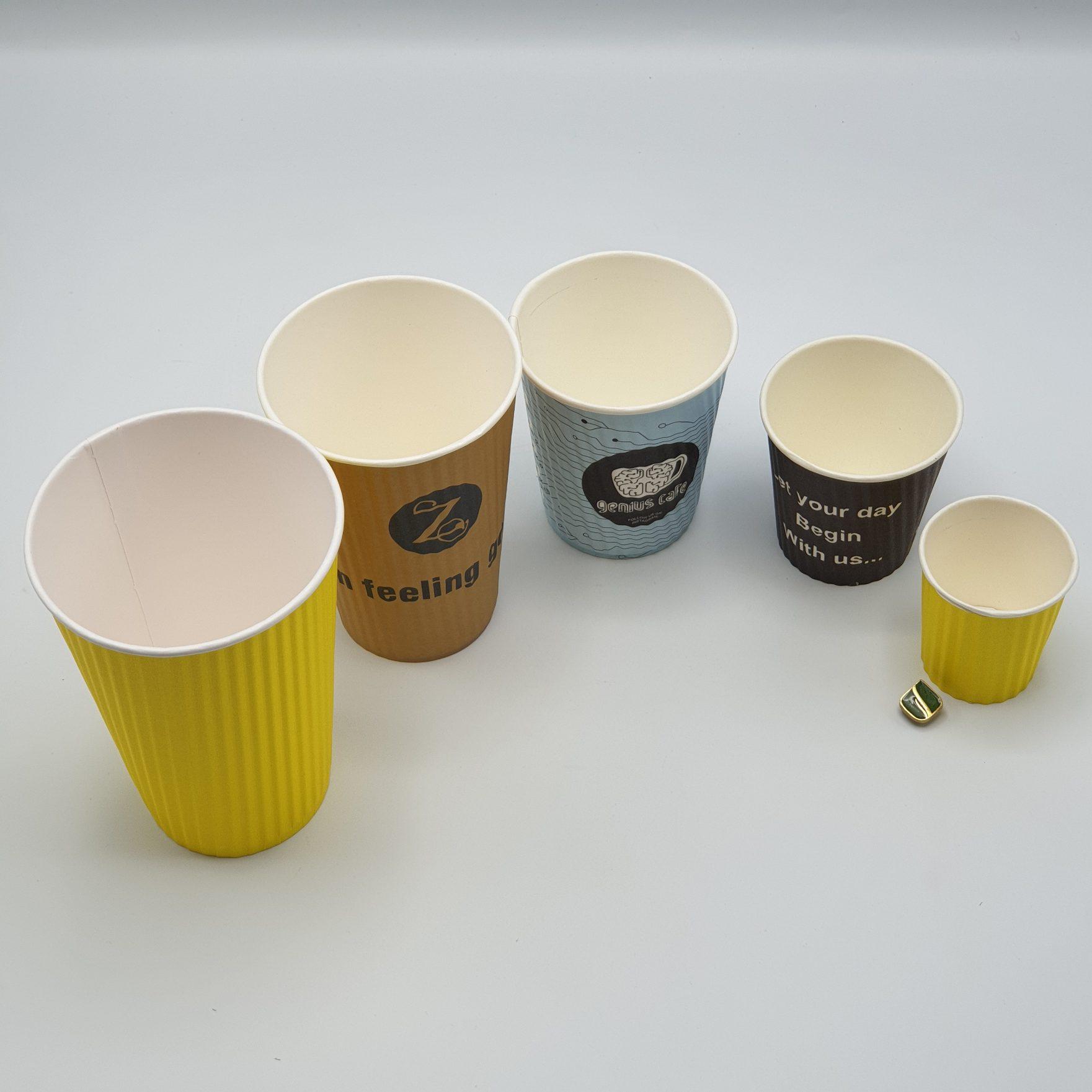 لیوان های کاغذی در انواع سایز
